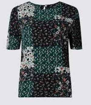 Ex M&5 Floral Print Shell Top, £3.50pp