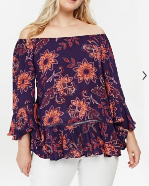 Ex Chainstore Floral Print Blouse, NOW-£5.00pp